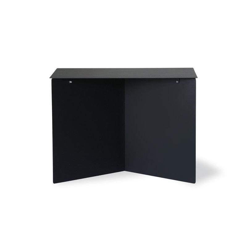 HKliving-collectie Metalen bijzettafel rechthoek zwart