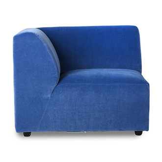 HKliving Jax bank element links royal velvet blauw
