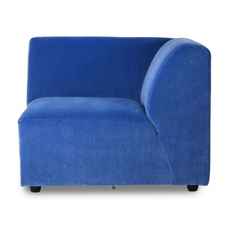 HKliving-collectie jax couch: element right, royal velvet, blue