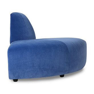 HKliving Jax bank element angle royal velvet blauw