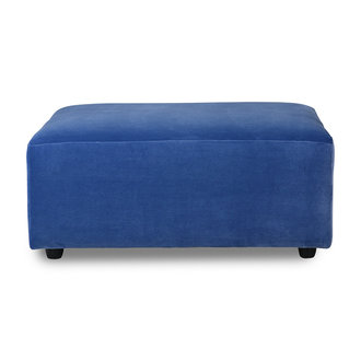 HKliving Jax bank element hocker royal velvet blauw