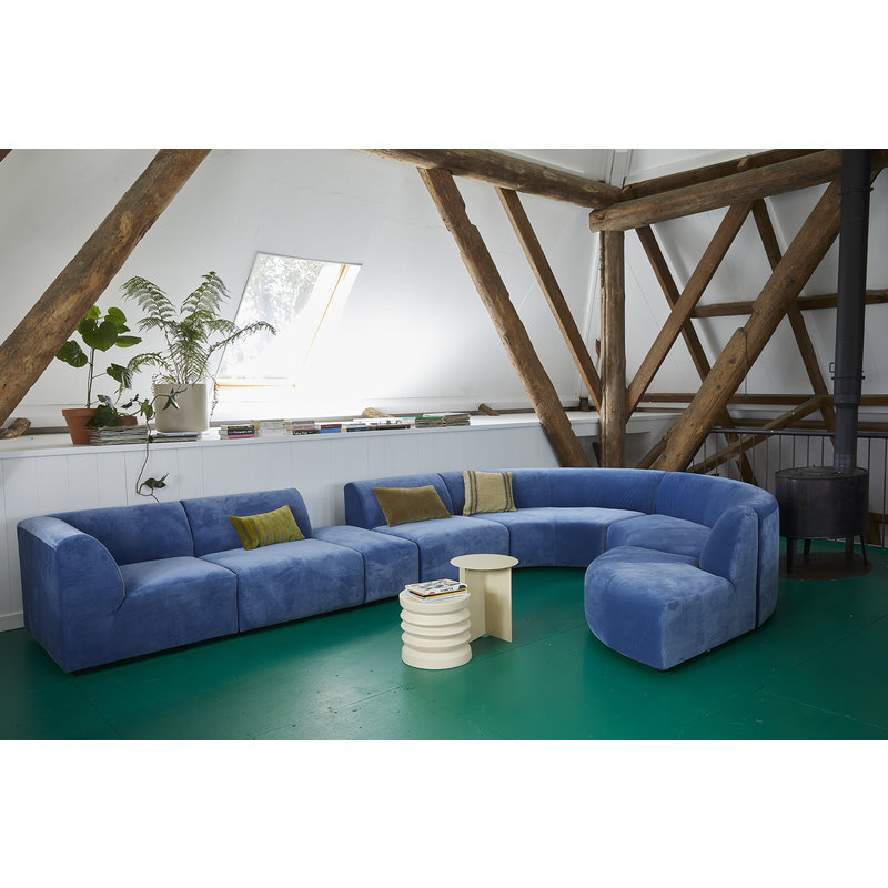 HKliving-collectie jax couch: element hocker, royal velvet, blue