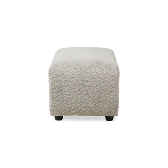 HKliving Jax bank element hocker small ted stone