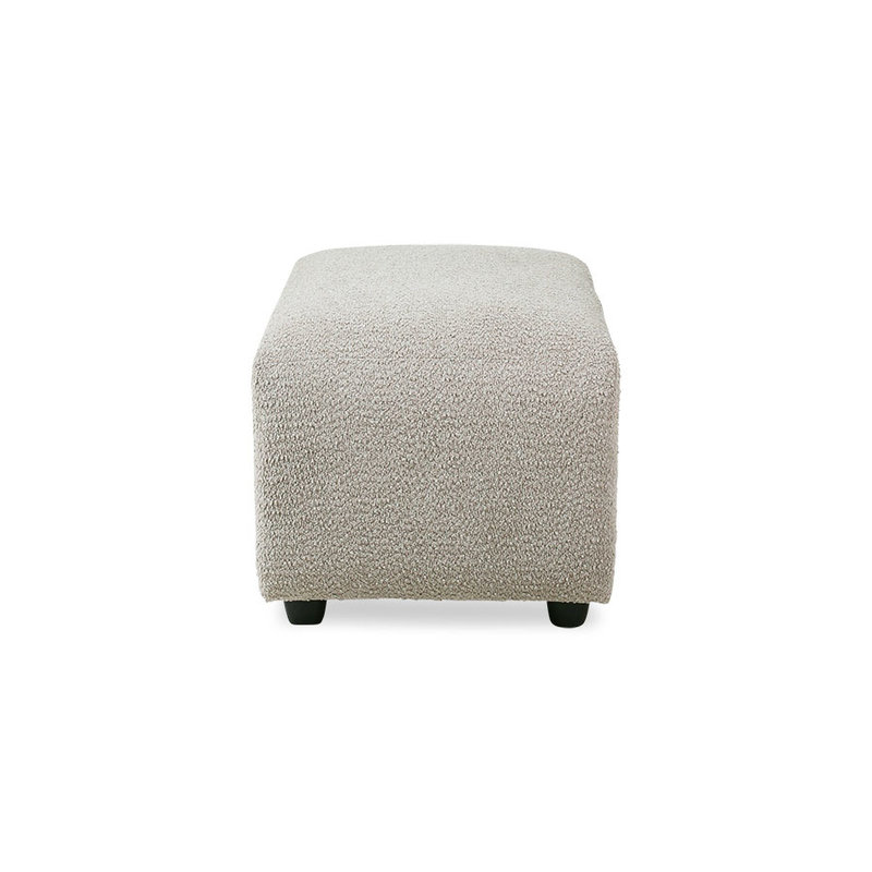 HKliving-collectie Jax bank element hocker small ted stone