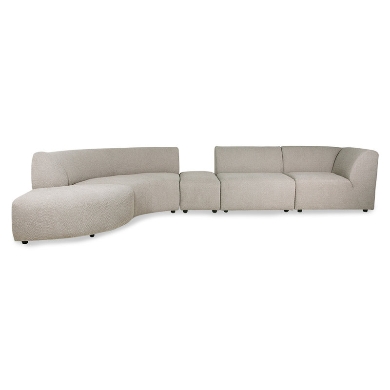 HKliving-collectie jax couch: element hocker small, ted, stone