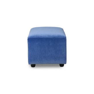 HKliving Jax bank element hocker small royal velvet blauw