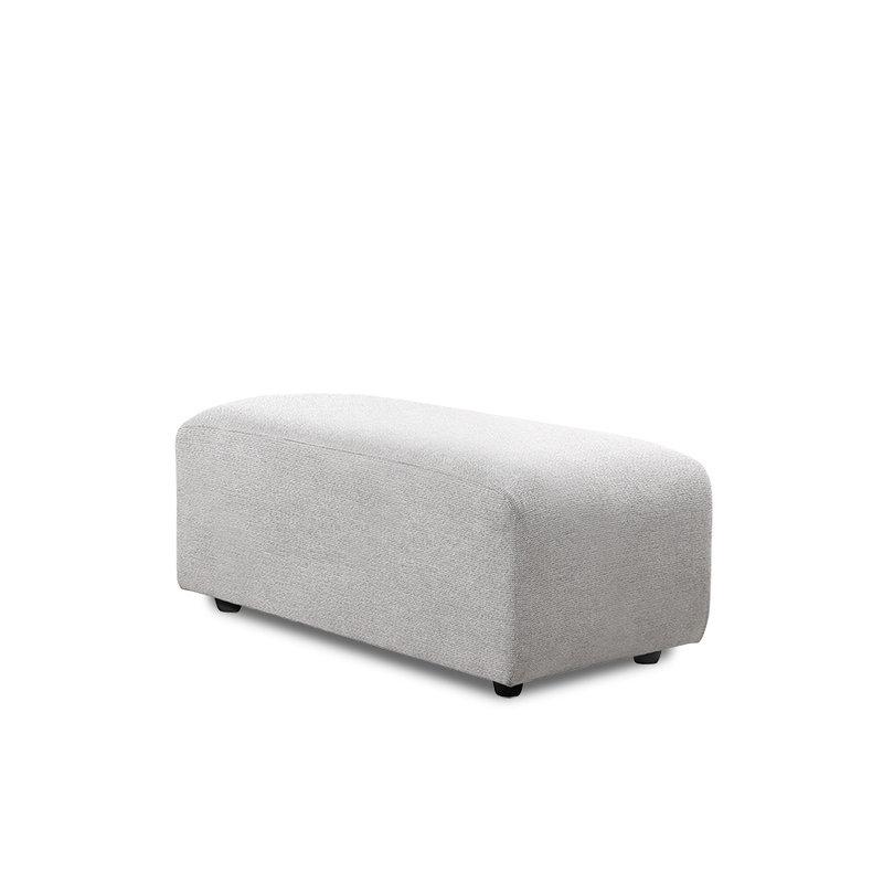 HKliving-collectie Jax bank element hocker small sneak light grey