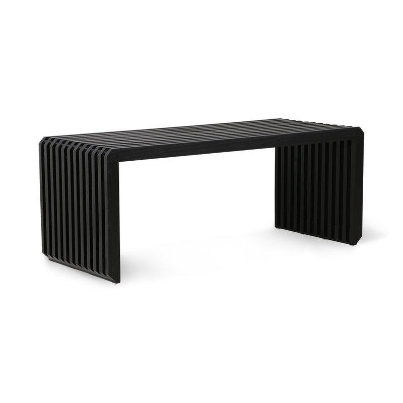 HKliving-collectie slatted bench/element black