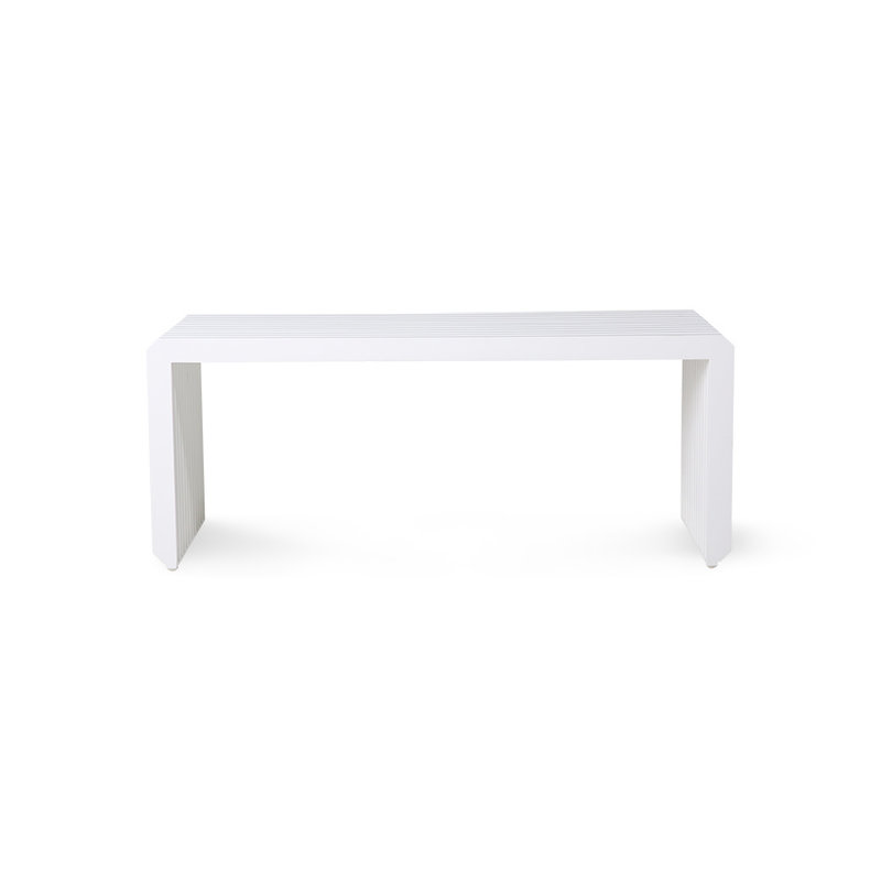 HKliving-collectie slatted bench/element white