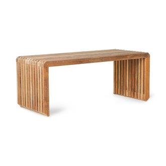 HKliving Bankje houten lamellen - element teak