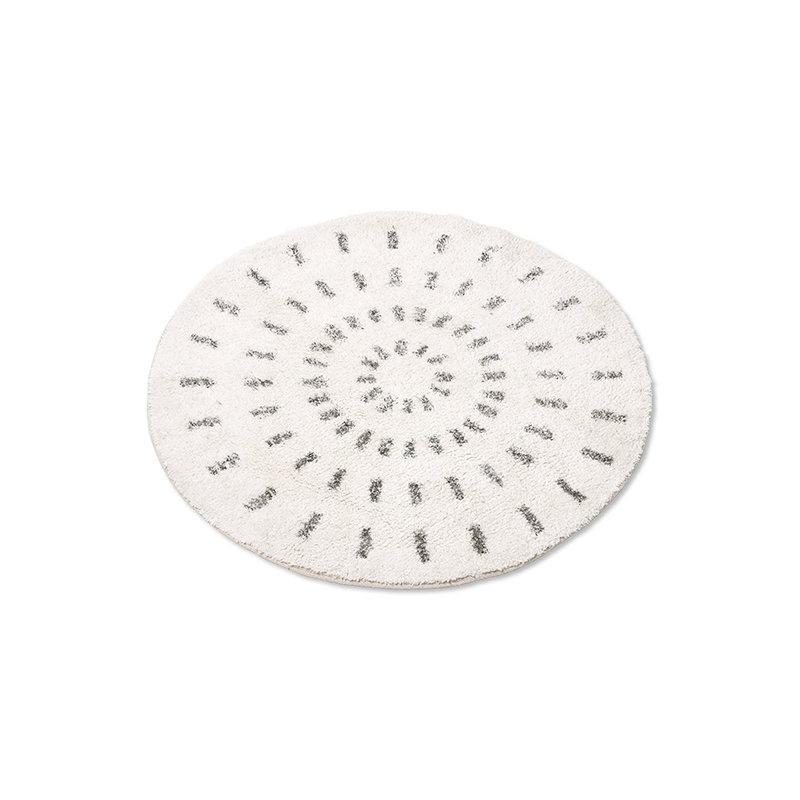 HKliving-collectie round bath mat swirl 80cm