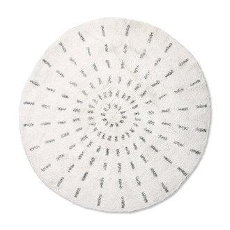 HKliving round bath mat swirl 120cm