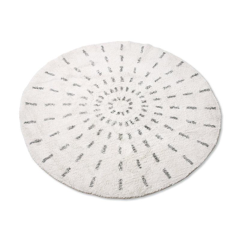 HKliving-collectie round bath mat swirl 120cm