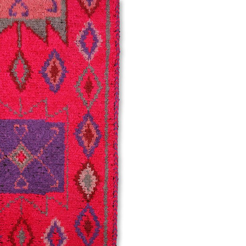 HKliving-collectie Wollen loper roze 70x200cm