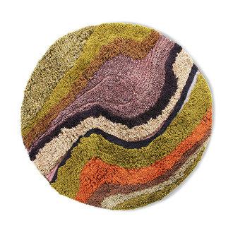 HKliving round tufted rug gradient (150cm