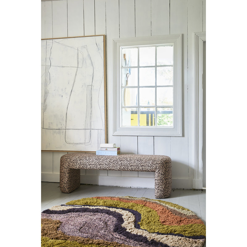 HKliving-collectie round tufted rug gradient (150cm