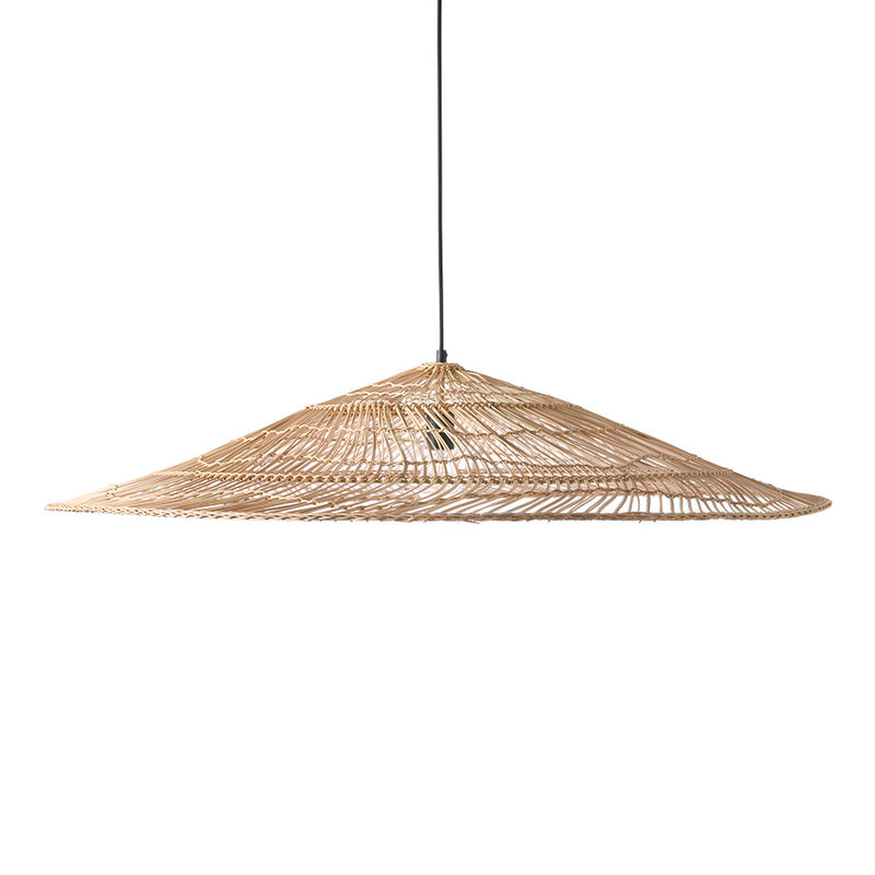 HKliving-collectie Wicker hanglamp triangle natural XL