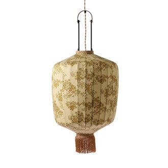 HKliving DORIS for HKLIVING: Traditionele lantaarn hanglamp met vintage print