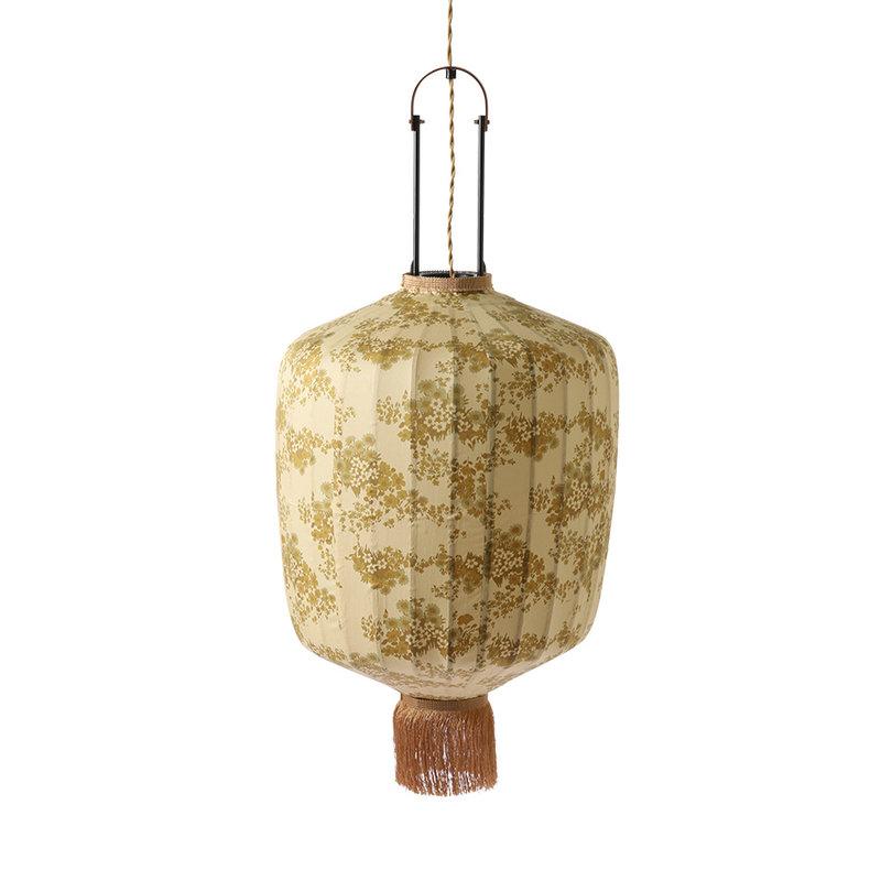 HKliving-collectie DORIS for HKLIVING: Traditionele lantaarn hanglamp met vintage print