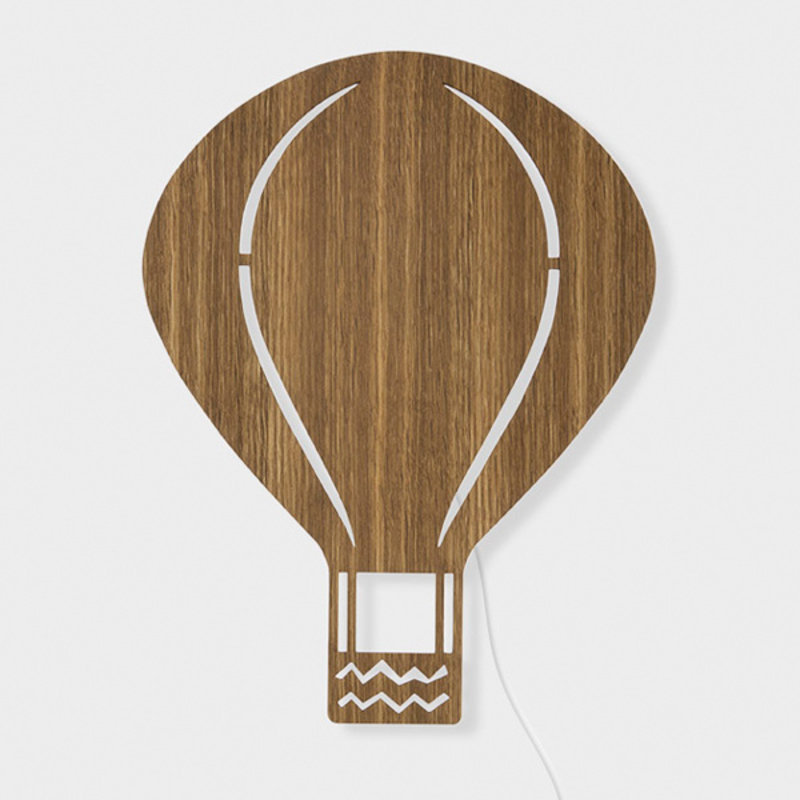 ferm LIVING-collectie Air Balloon Lamp Smoked Oak