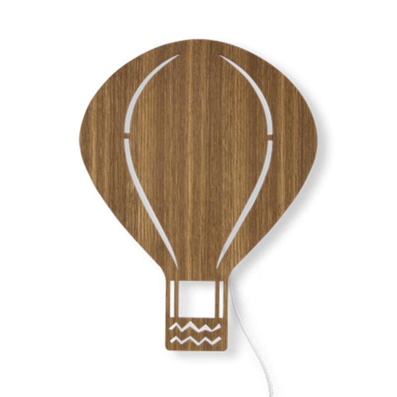 ferm LIVING-collectie Air Balloon wandlamp Smoked Oak