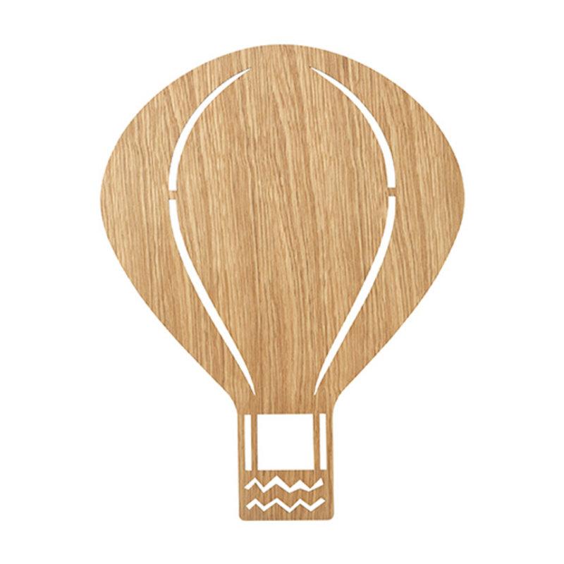 ferm LIVING-collectie Air Balloon wandlamp Oiled Oak
