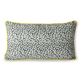 HKliving doris for hkliving: printed cushion green (35x60)