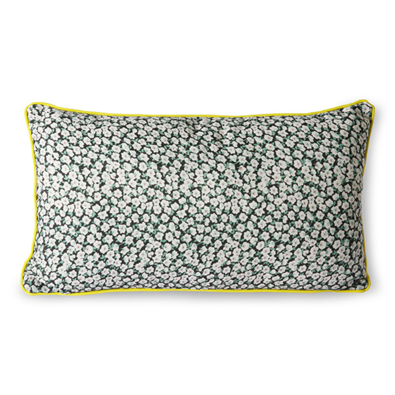 HKliving-collectie doris for hkliving: printed cushion green (35x60)