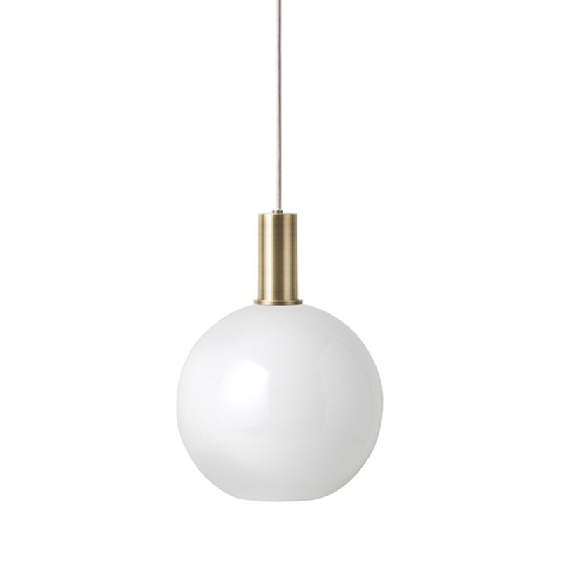 ferm LIVING-collectie Collect Pendant Low Brass