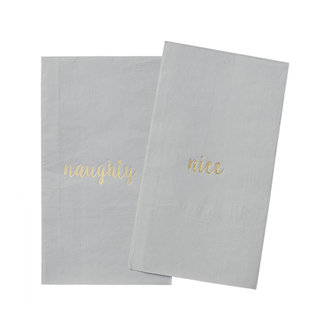 Delight Department-collection Napkins Gray with golden print