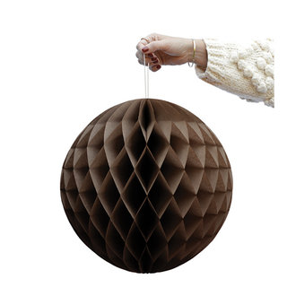 Delight Department-collection Brown honeycomb ball - set of 2