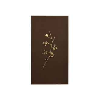 Delight Department-collection Napkins Brown with golden print