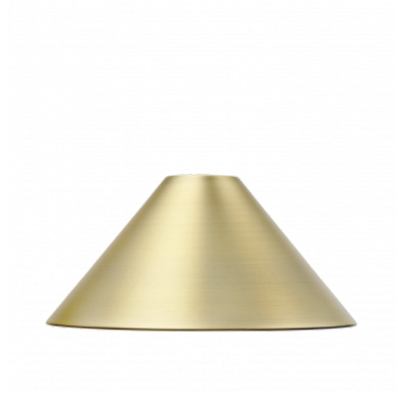 ferm LIVING-collectie Collect Cone lampenkap Brass