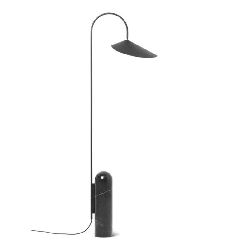 ferm LIVING-collectie Arum Vloerlamp zwart