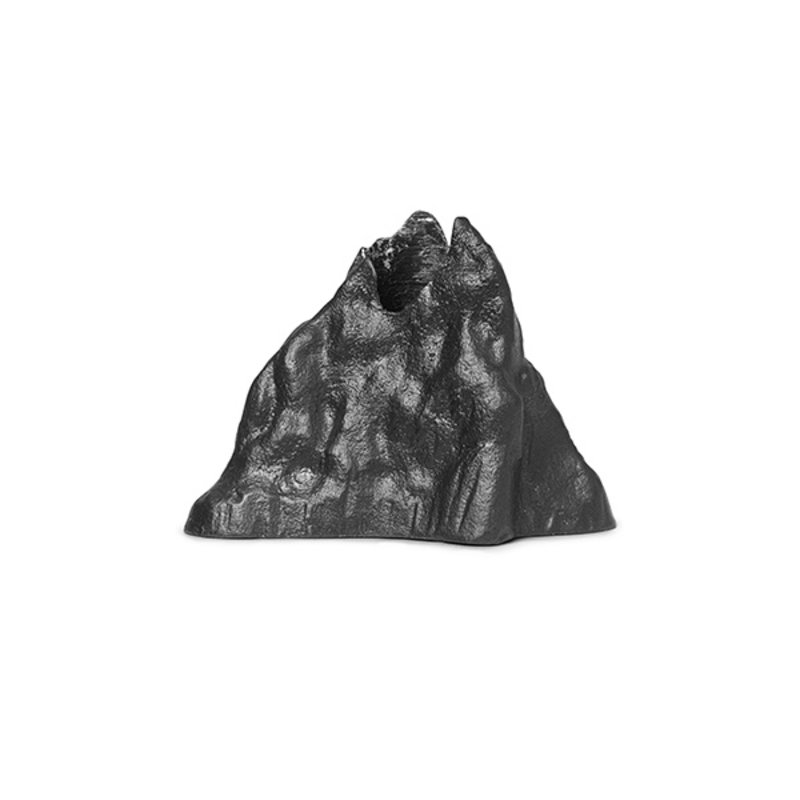 ferm LIVING-collectie Kandelaar Stone L zwart