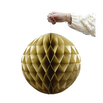 Delight Department-collection Gouden Honeycomb bal