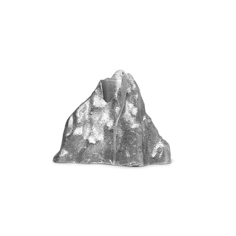 ferm LIVING-collectie Stone Candle Holder - Large - Aluminium