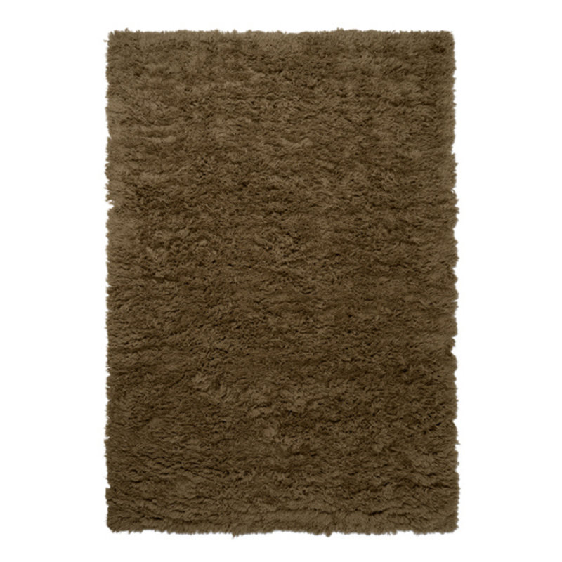 ferm LIVING-collectie Meadow High Pile Rug L - Tapenade