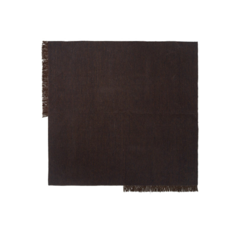 ferm LIVING-collectie Vloerkleed Kelim Vierkant Dark Melange