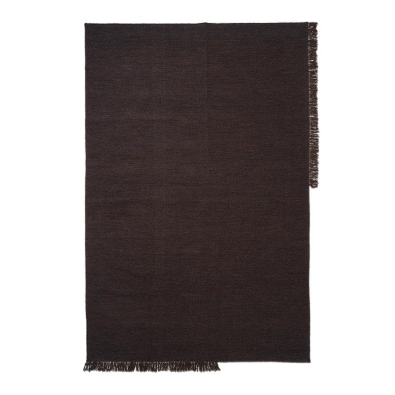 ferm LIVING-collectie Vloerkleed Kelim L Dark Melange