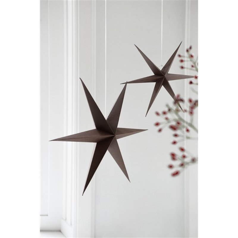 Delight Department-collection Star brown sparkle - set of 2 pieces