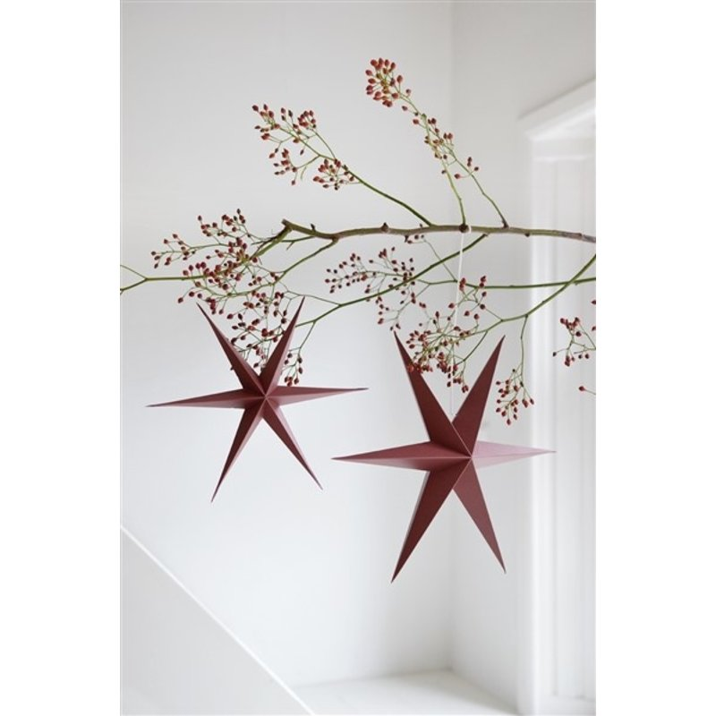 Delight Department-collection Star rusty red - set of 2 pieces