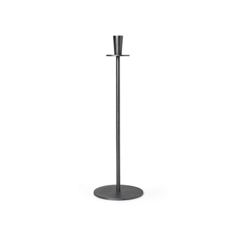 ferm LIVING-collectie Hoy Casted Candle Holder - Black