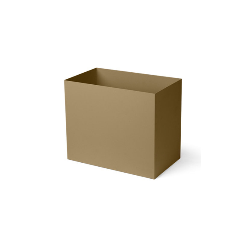 ferm LIVING-collectie Plant Box Pot Large olijf