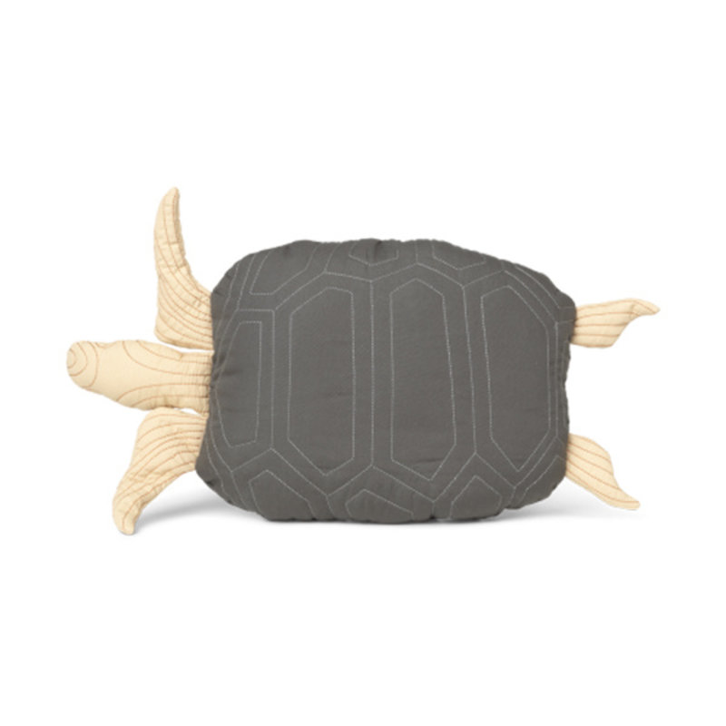 ferm LIVING-collectie Turtle Quilted kussen Deep Forest