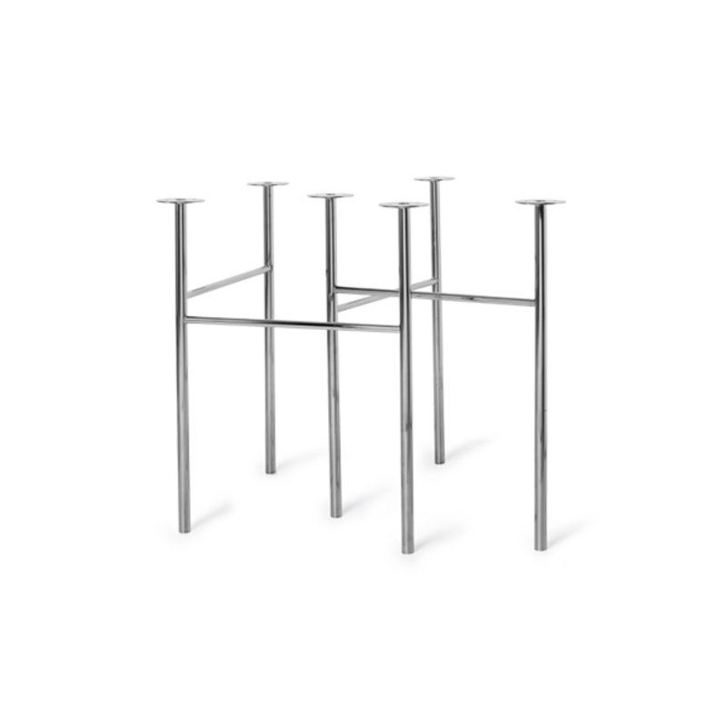 ferm LIVING-collectie Mingle Table Legs W68 -Chrome (set of 2)