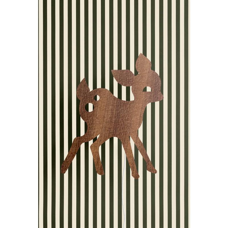 ferm LIVING-collectie My Deer wandlamp Smoked Oak