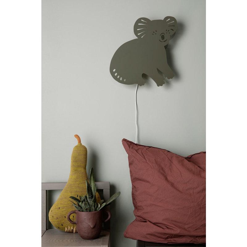 ferm LIVING-collectie Koala wandlamp Smoked Oak