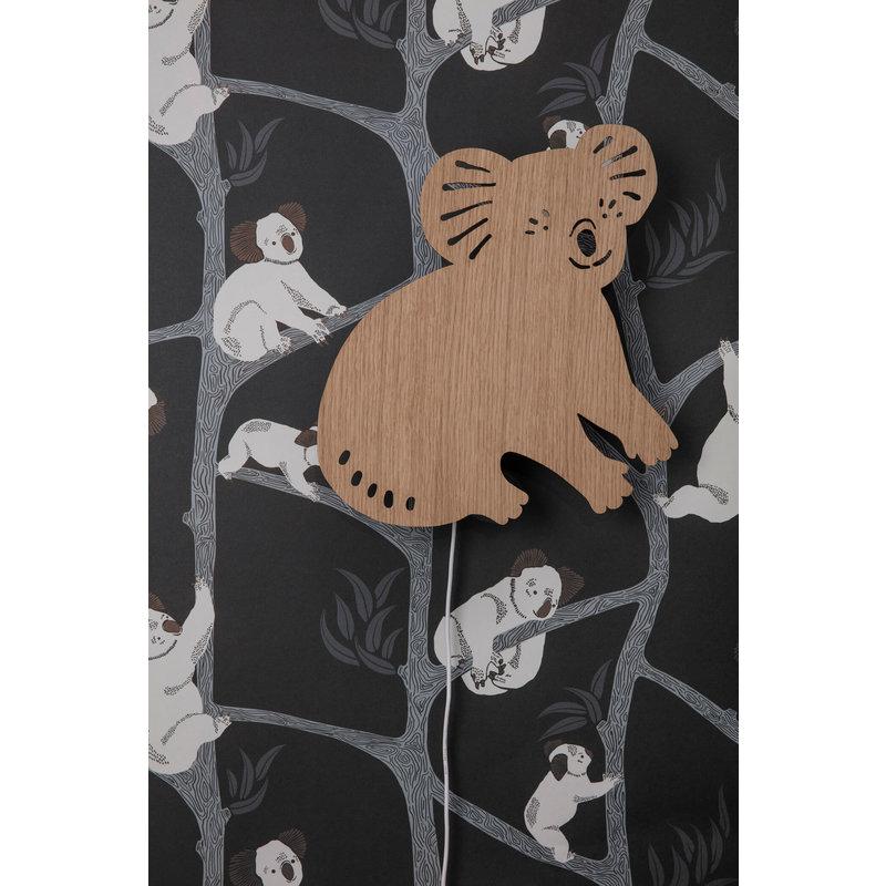 ferm LIVING-collectie Koala Lamp Smoked Oak