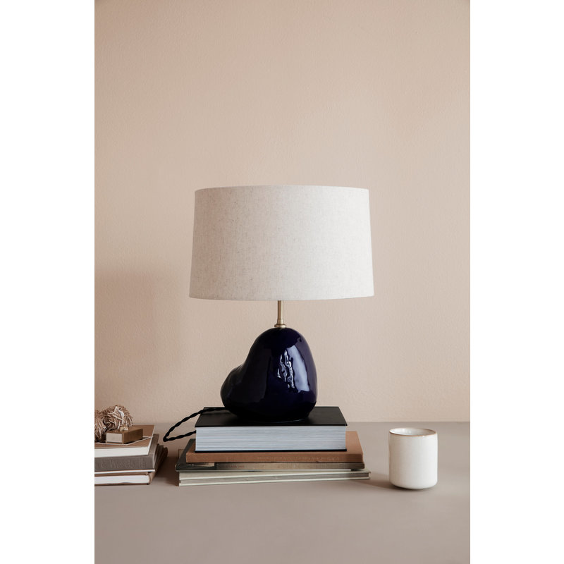 ferm LIVING-collectie Hebe Lamp Base small Deep Blue